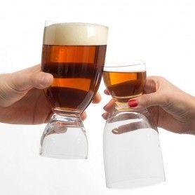 Vaso de Cerveza con Chupito Th3 Party
