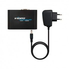 VGA to HDMI Adapter with Audio NANOCABLE 10.16.2101-BK Black