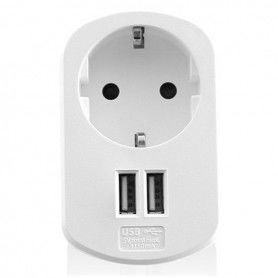 Wall Plug with 2 USB Ports Ewent EW1211 3,1 A