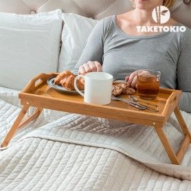 TakeTokio Bamboo Tray with Legs