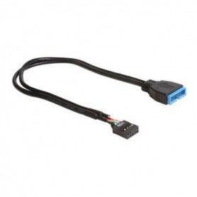 USB Cable DELOCK 83281 30 cm Black