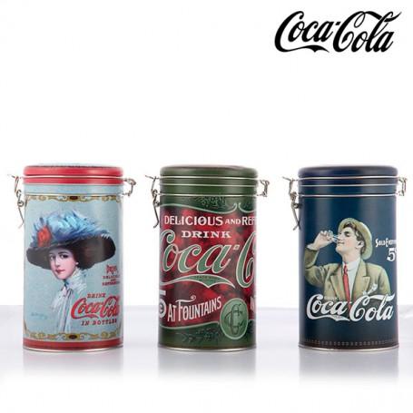 Bote Vintage Metálico Coca-Cola