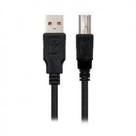 Câble USB 2.0 A vers USB B NANOCABLE 10.01.0102-BK Noir (1 M)