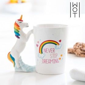 Tasse Licorne Never Stop Dreaming Wagon Trend