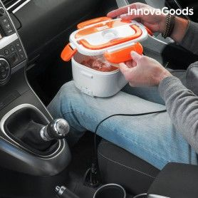 Boîte Déjeuner Électrique pour Voitures InnovaGoods 40W 12 V Blanche Orange