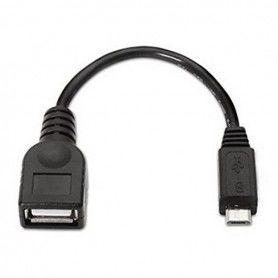 Cable USB 2.0 A a Micro USB B NANOCABLE 10.01.3500 15 cm Negro