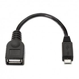 USB 2.0 A to Micro USB B Cable NANOCABLE 10.01.3500 15 cm Black