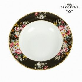 Deep Plate (Ø 23 cm) Porcelain - Kitchen's Deco Collection