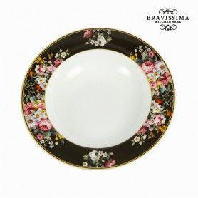Deep Plate (Ø 23 cm) Porcelain - Kitchen's Deco Collection