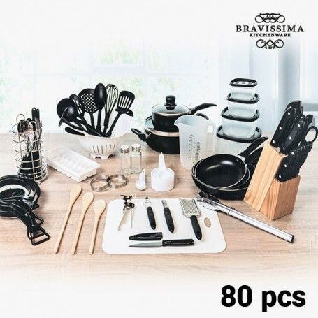 Bravisima Kitchen Cookware Set (80 pieces)