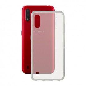 Mobile Phone Case with TPU Edge Samsung Galaxy A01 Flex Transparent