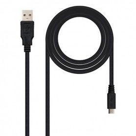Cable USB 2.0 A a Micro USB B NANOCABLE 10.01.0500 Negro