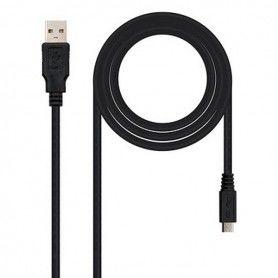 USB 2.0 A to Micro USB B Cable NANOCABLE 10.01.0500 Black