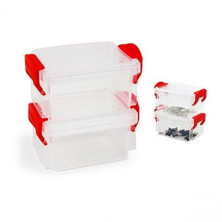 Set of Stackable Hermetically-sealed Kitchen Containers Confortime (2 pcs)