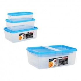 Set of 3 lunch boxes Privilege Agata Plastic