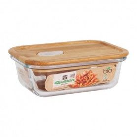 Rectangular Lunchbox with Lid Quttin Crystal Bamboo