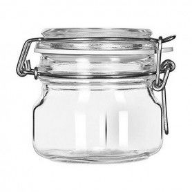 Glass Jar Borgonovo Crystal