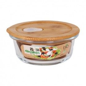 Round Lunch Box with Lid Quttin Crystal Bamboo