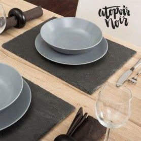 Excellent Slate Table Mat Atopoir Noir