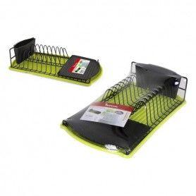 Folding Draining Rack for Kitchen Privilege Green Black