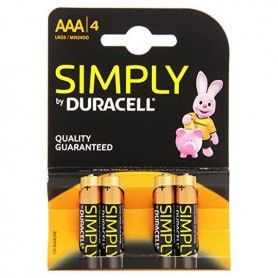 Alkaline Batteries DURACELL Simply DURSIMLR3P4B LR03 AAA 1.5V (4 pcs)