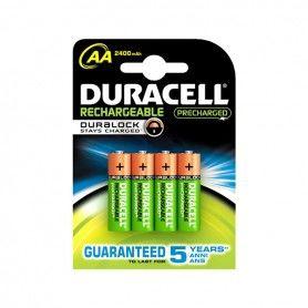 Piles Rechargeables DURACELL AA NiMh 2400 mAh (4 pcs)