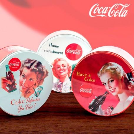 Coca-Cola Retro Round Metal Box