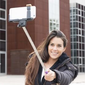 Perche Selfie Bluetooth pour Téléphone Portable