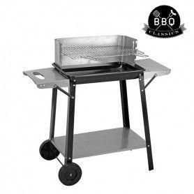Barbecue à Charbon avec Roues et Plateaux BBQ Classics
