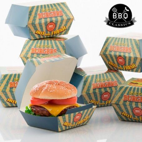 BBQ Classics Set of Burger Boxes (Pack of 8)