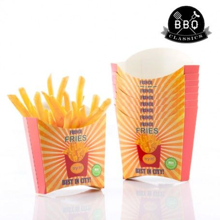 BBQ Classics Set of French Fry Boxes (Pack of 8)