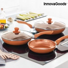 InnovaGoods Copper-Effect Pan Set (5 Pieces)