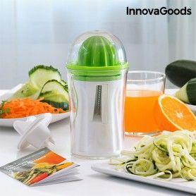Cortador de Verduras y Exprimidor 4 en 1 con Recetario InnovaGoods