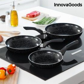 InnovaGoods Stone Pan Set (3 Pieces)
