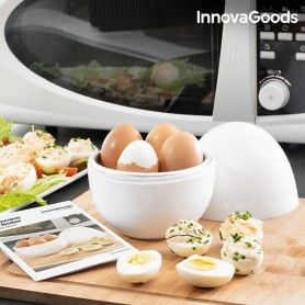 InnovaGoods Boilegg Microwave Egg Boiler with Recipe Booklet