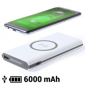 Wireless Power Bank 6000 mAh LED Micro USB 145783