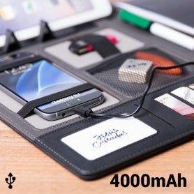 Carpeta con Power Bank 4000 mAh (20 hojas) 146024