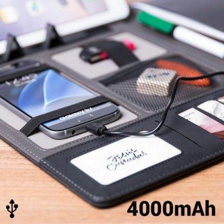 Dossier avec Power Bank 4000 mAh (20 feuilles) 146024