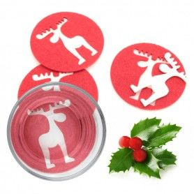 Santa's Reindeer Coasters (4 pcs) 143754