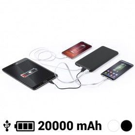 Power Bank 20000 mAh USB-C Lightning Micro USB 145784