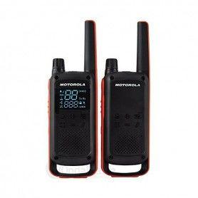 Walkie-Talkie Motorola T82 (2 Pcs) Negro Naranja