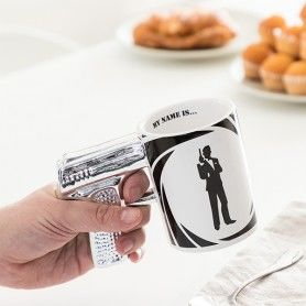 Secret Agent Pistol Mug