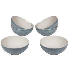 Set of bowls (6 pcs) (15 x 15 x 6 cm) - Queen Kitchen Collection