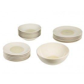 Tableware (19 pcs) China crockery Yellow