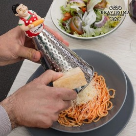Rallador de Acero Inoxidable con Figura Bravissima Kitchen