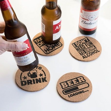 Party Cork Coasters (Pack of 4)