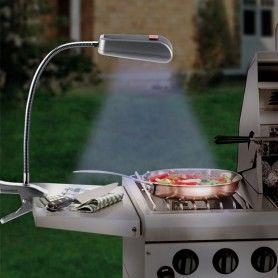 Lámpara con Pinza para Barbacoa BBQ (9 LED)