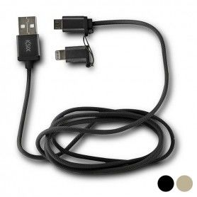 USB Cable to Micro USB and Lightning