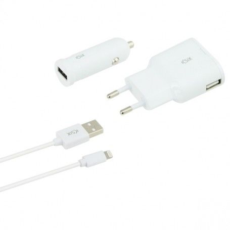 Set of Chargers (3 pcs) White