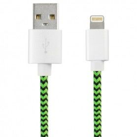 USB to Lightning Cable Sport 1 m Green Black
